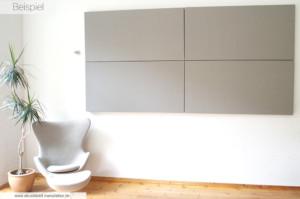 Akustikpaneele Grau (Farbe: Warm Grey) in 160 x 80 x 8 cm