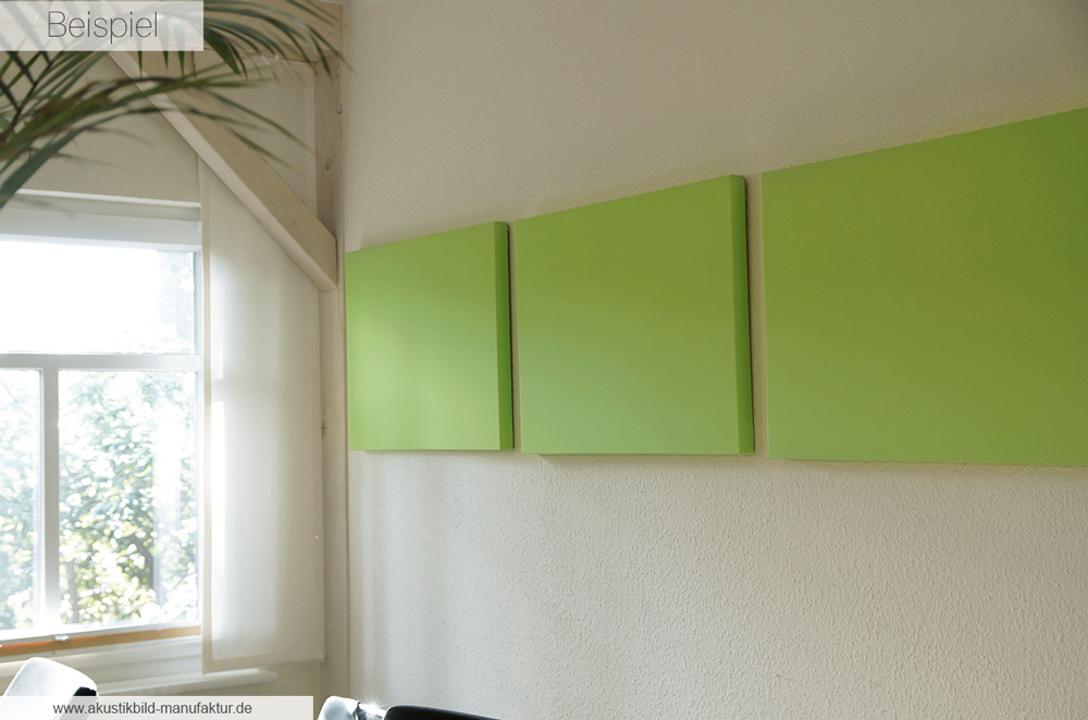 Akustikbilder Akustikpaneele Limette im Format 52 x 42 x 3,5 cm