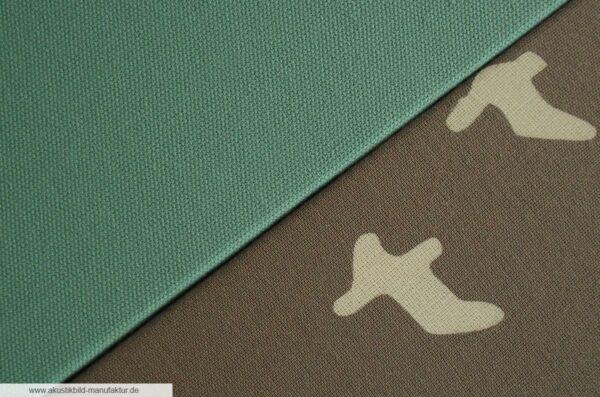 Akustikbild Zugvögel Sahara und Akustikpaneel Pool