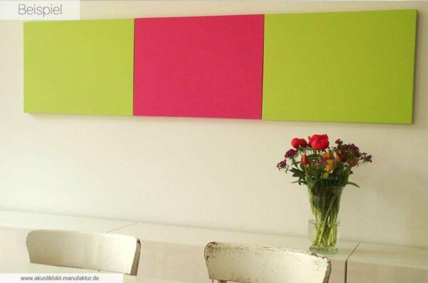 Akustikbilder in Hallo Frühling und Hot Pink in 72 x 52 x 3,5 cm