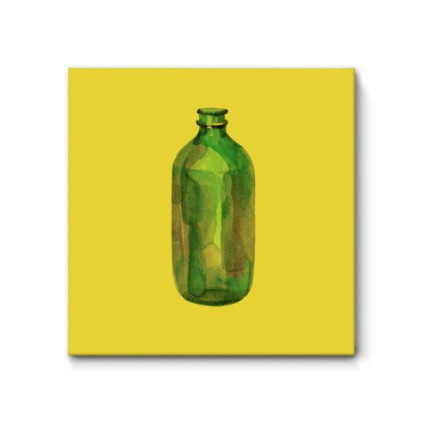 "Akustikbild ""Flasche"", 52x52 cm"