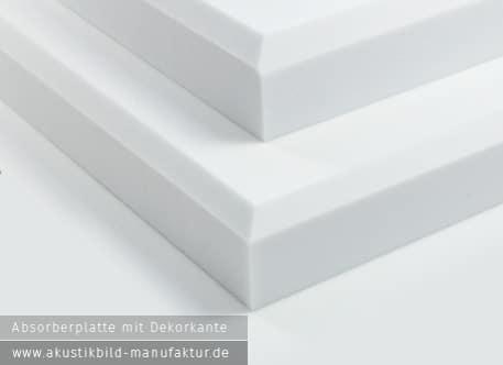 Absorberplatte mit Fase (Dekorkante)