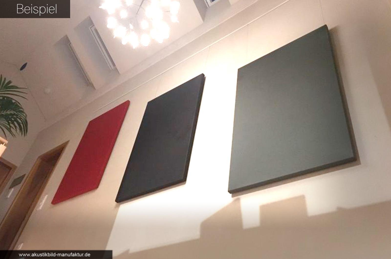 einfarbige Akustikbilder