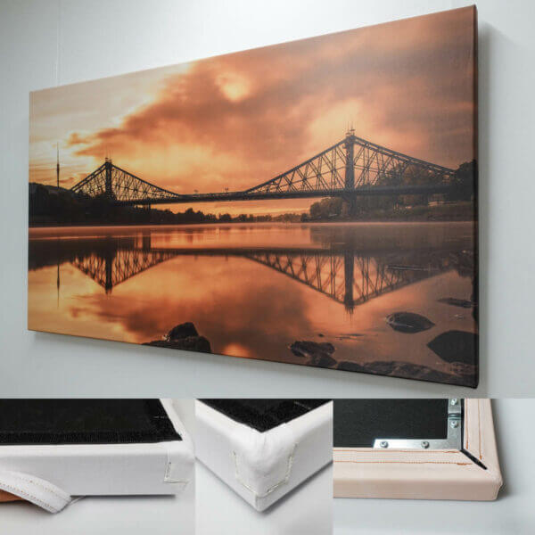 Akustikbild Loschwitzer Brücke bei Sonnenaufgang