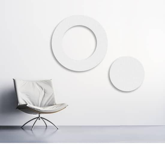 runde Schallabsorberplatten (Kreisform) als Ring als Set mit kleiner Schallabsorberplatte