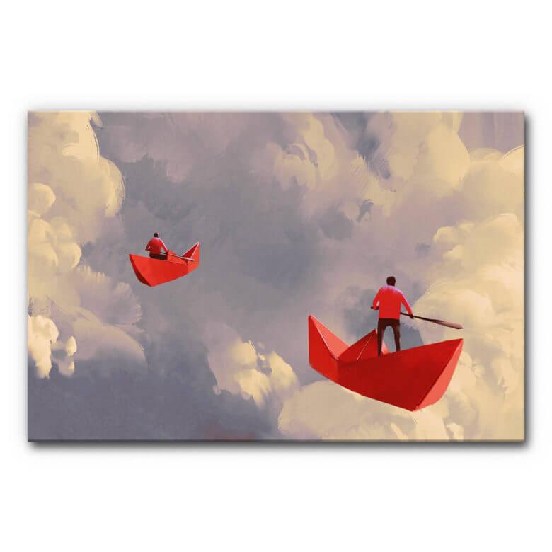 """Psychotherapie Praxis einrichten mit Akustikbild """"Himmelsschiffer"""""""