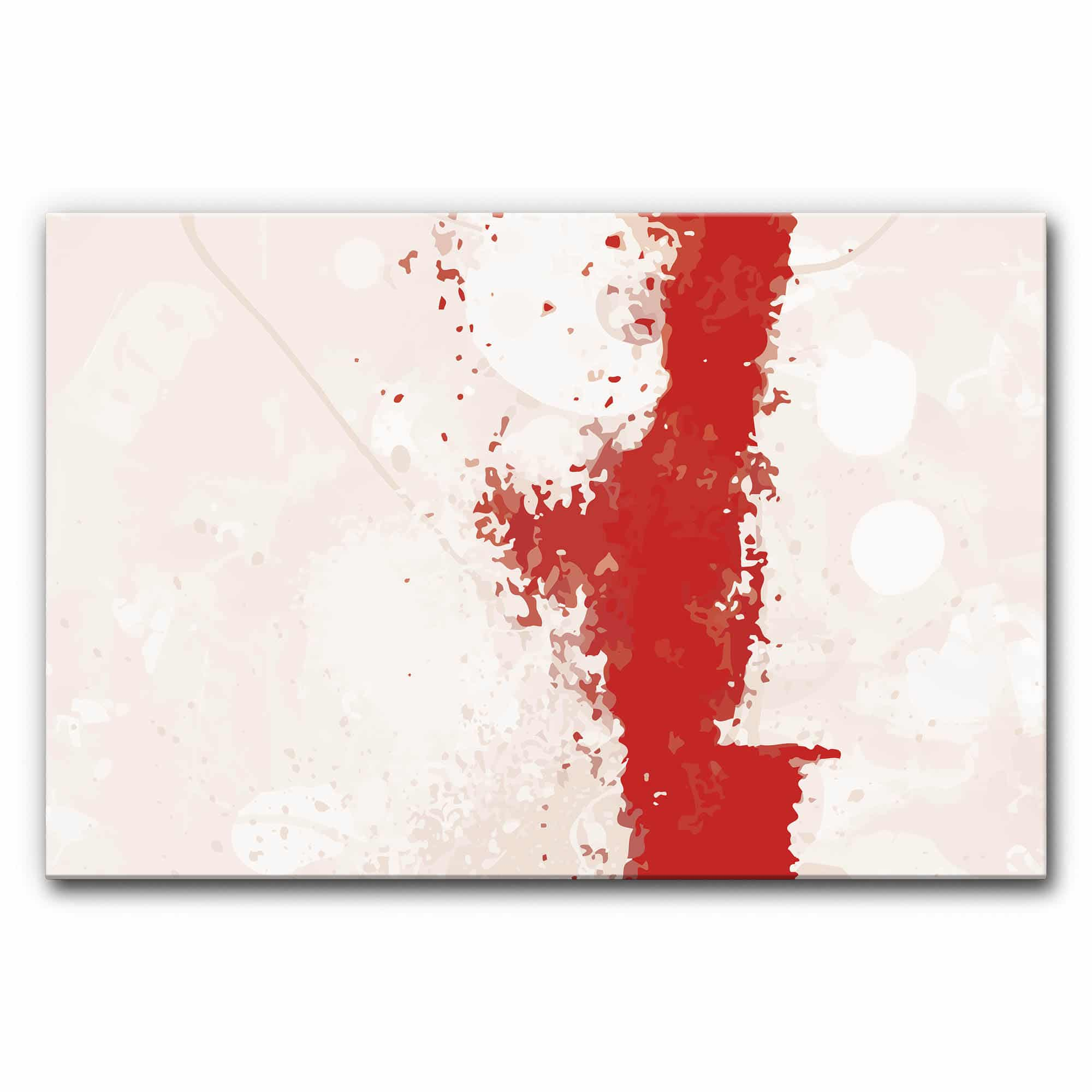 Akustikbild Balance Straight Red im Format 120x80