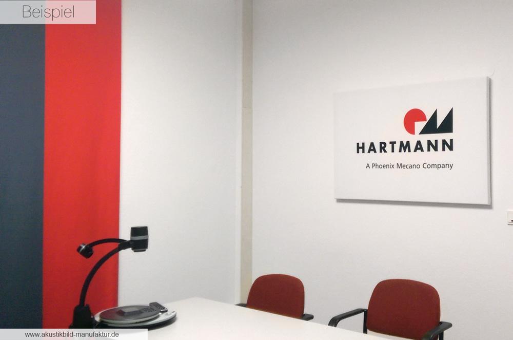 Akustikbild mit eigenem Logo Hartmann Codier