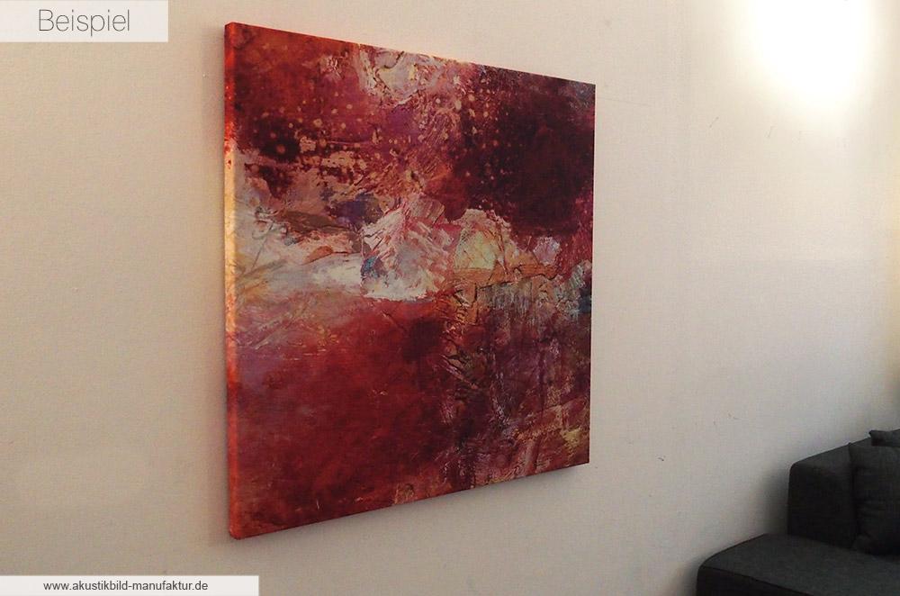 Akustikbild Manufaktur Beispiel Akustikbilder mit Motiv Roter Sturm