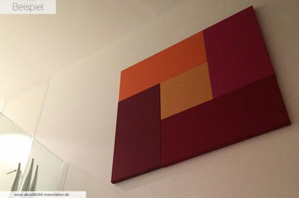 Einfarbige Akustikelemente in der Galerie