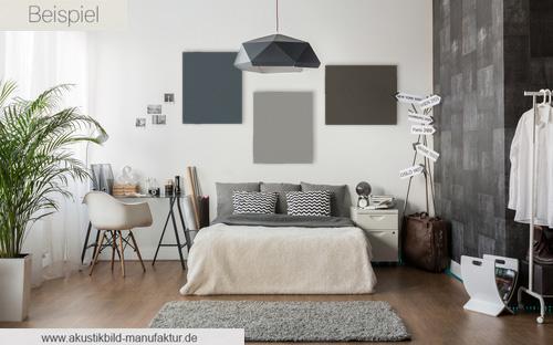 Akustikpaneele in Blue Grey, Steingrau und Taupe Dunkel