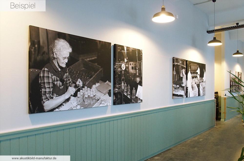 Akustikbilder mit individuellen Fotos im Leinwandstil. Akustikbilder ohne sichtbaren Rahmen