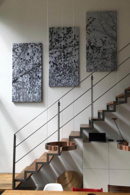 Raum Akustik verbessern im offenen Wohnraum mit Akustikbilder