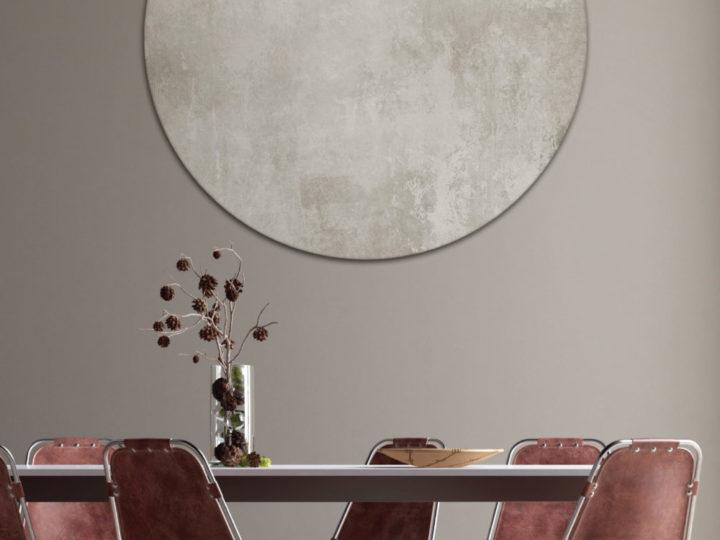 Außergewöhnliche Wandgestaltung mit runden Designelementen – Runde Schallabsorber und Absorberkreise aus Basotect