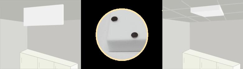Montage Schallabsorberplatten mittels Magneten
