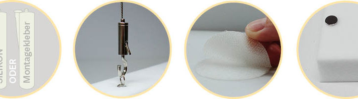 4 einfache Möglichkeiten, Schallabsorberplatten zu montieren