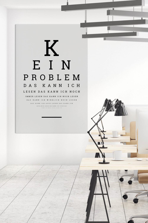 Akustikbilder mit Sprüchen - Motiv Sehtest