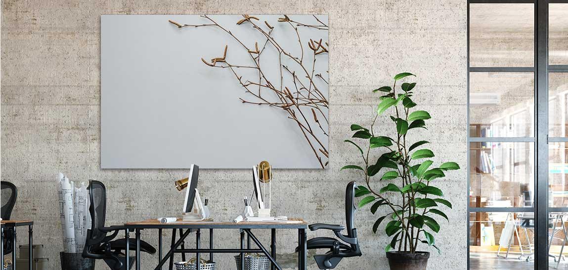 Büroakustik verbessern mit schallabsorbierenden Wandbildern