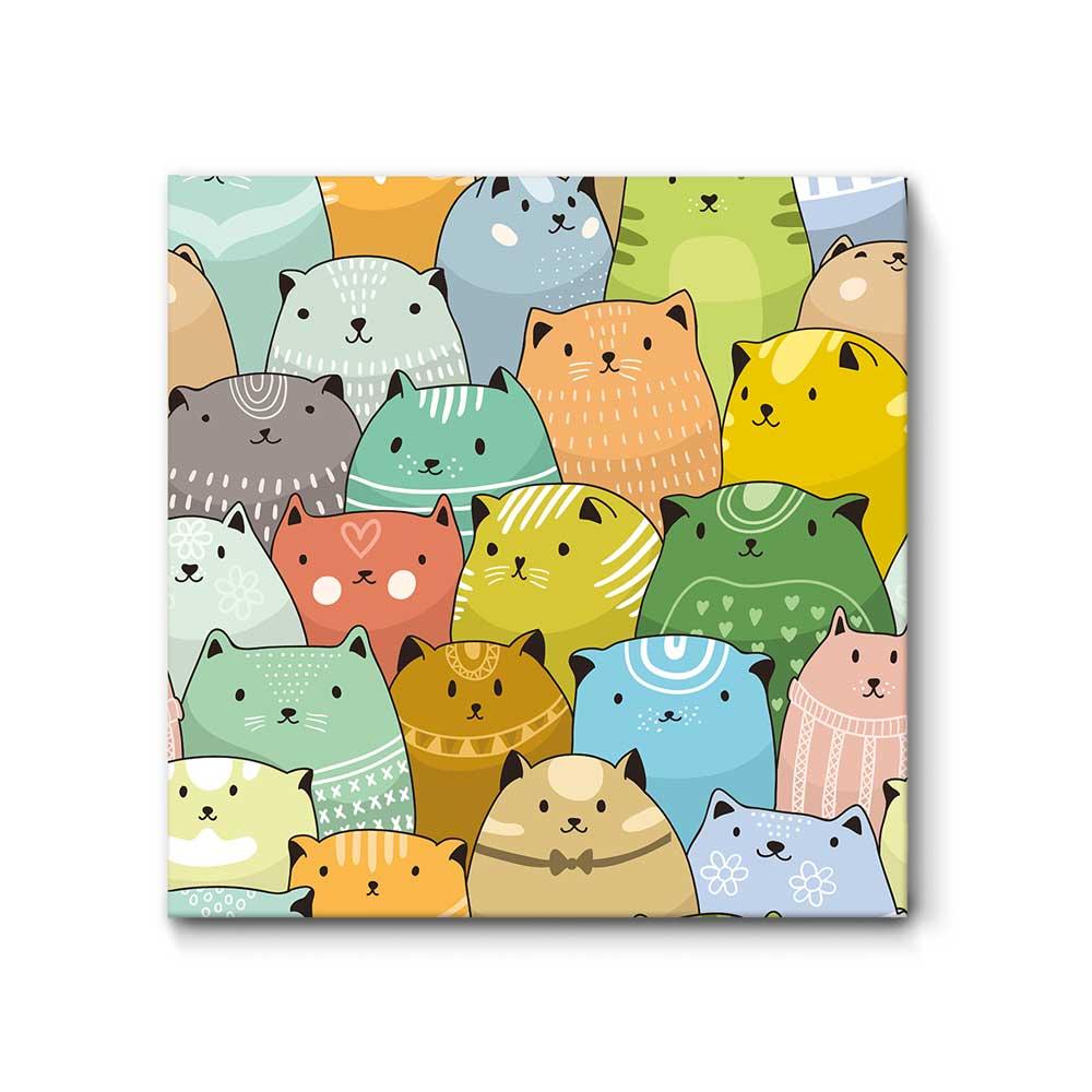 schallschlucker f r kinder little cats crowd die akustikbild manufaktur. Black Bedroom Furniture Sets. Home Design Ideas