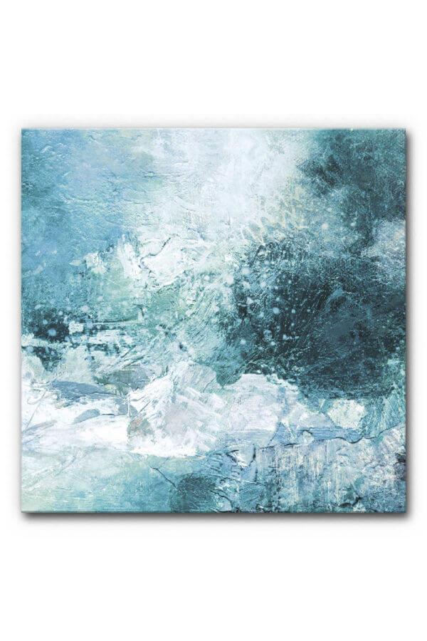 Abstrakte Kunst im Winter: Akustikbild Winterwelt
