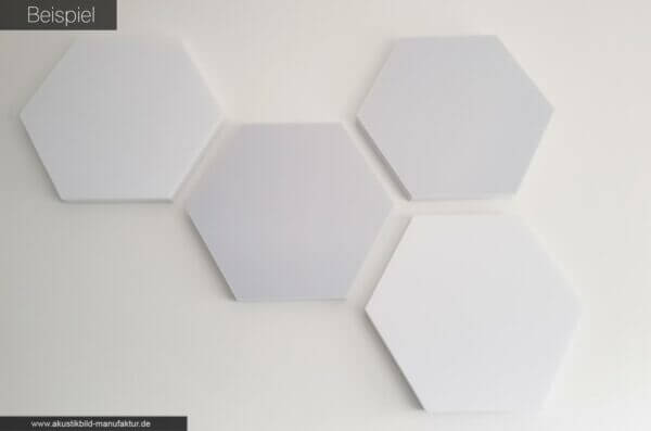 Sechseck Schallschutzplatten wabenstruktur