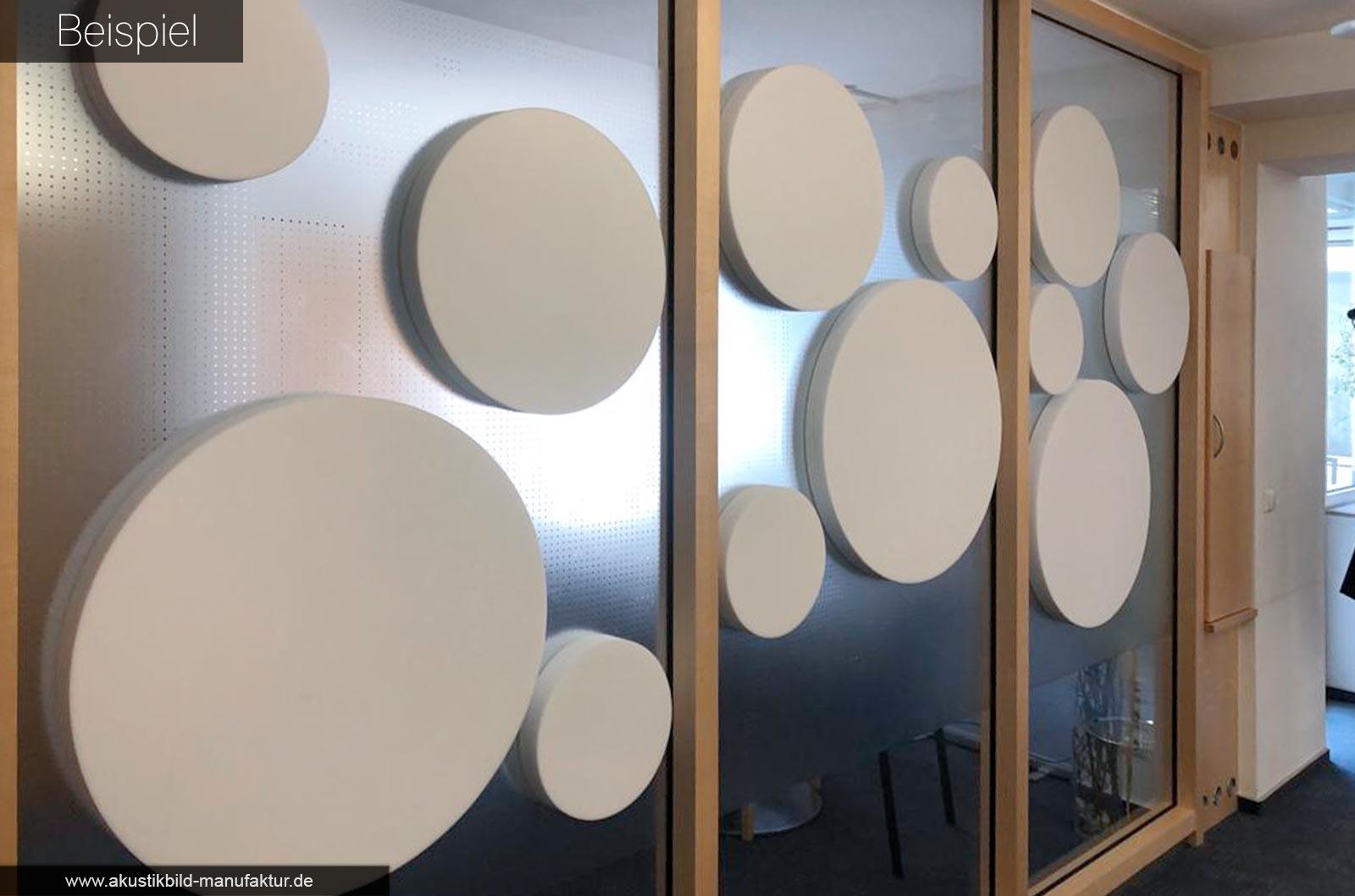 runde akustikkreise aus basotect