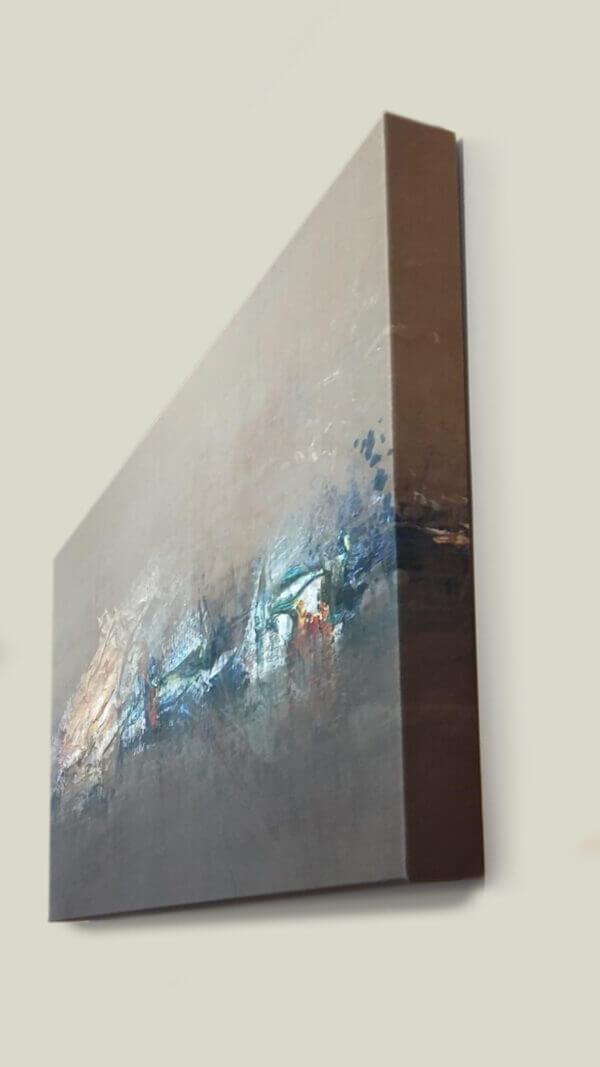Beispiel Bassabsorber als Akustikbild mit 8 cm Bautiefe