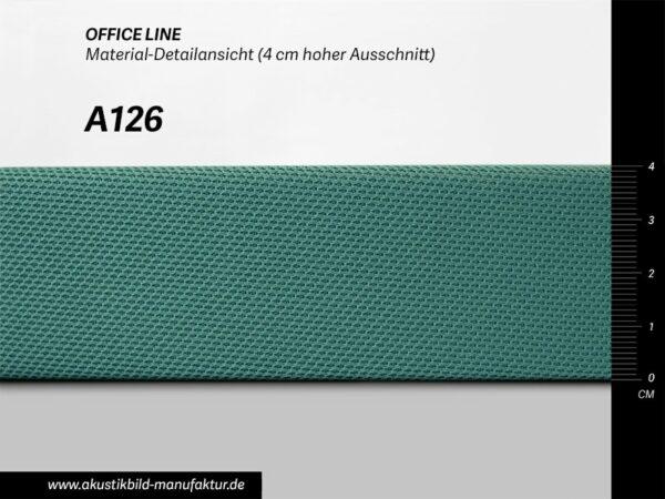 Office Line Türkis Dunkel (Nr A-126) für runde Absorber, Deckensegel oder Akustikbilder