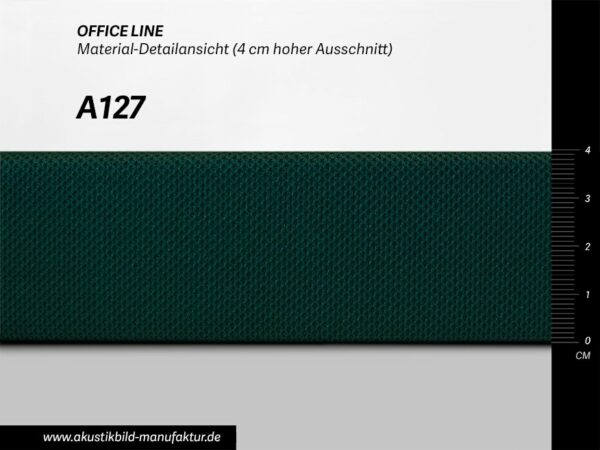 Office Line Petrol Dunkel (Nr A-127) für runde Absorber Decke, Deckensegel oder Akustikbilder