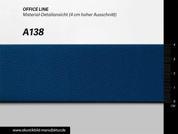 Office Line Königsblau (Nr A-138) für runde Absorber, Deckensegel oder Akustikbilder