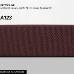 Office Line Brombeerbraun (Nr A-123) für runde Absorber Decke, Deckensegel oder Akustikbilder