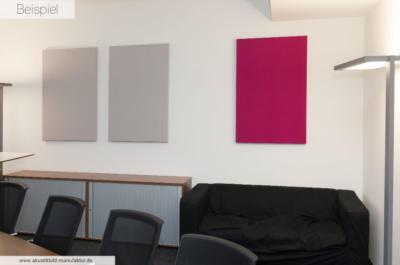 Einfarbige Akustikbilder im Besprechungraum
