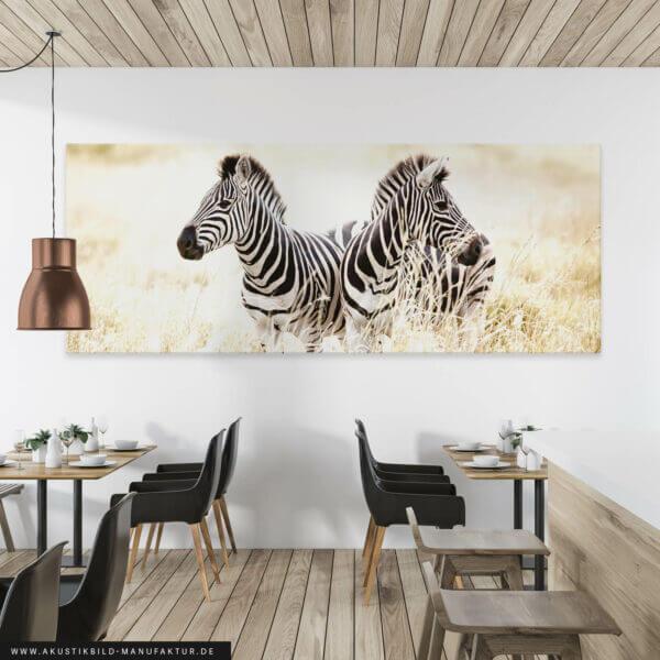 Akustikbild Zwei Zebras