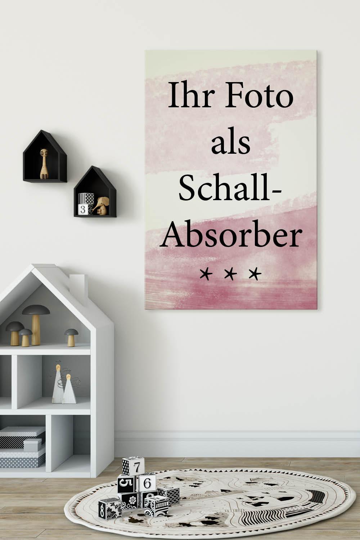 Wandbilder mit eigenem Foto für die Akustik im Kinderzimmer