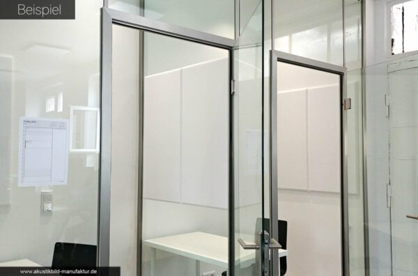 Absorberplatten Telefonkabine Glastrennwand