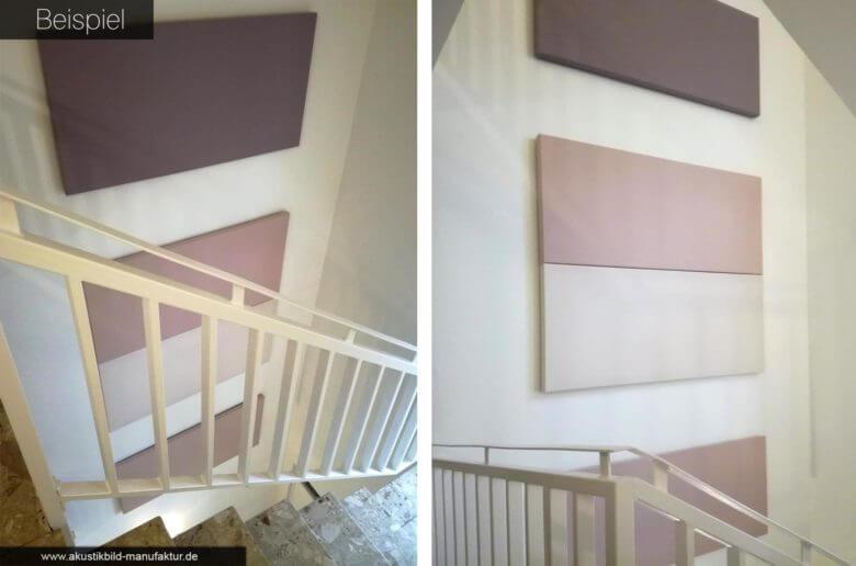 Schallschutzbilder im Treppenhaus