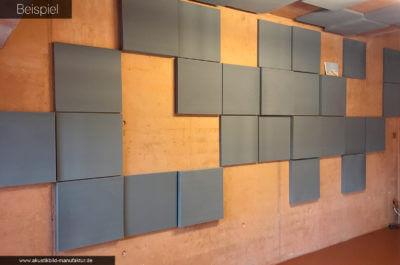 Schallabsorberplatten aus Basotect in Anthrazit (Dunkel Grau)