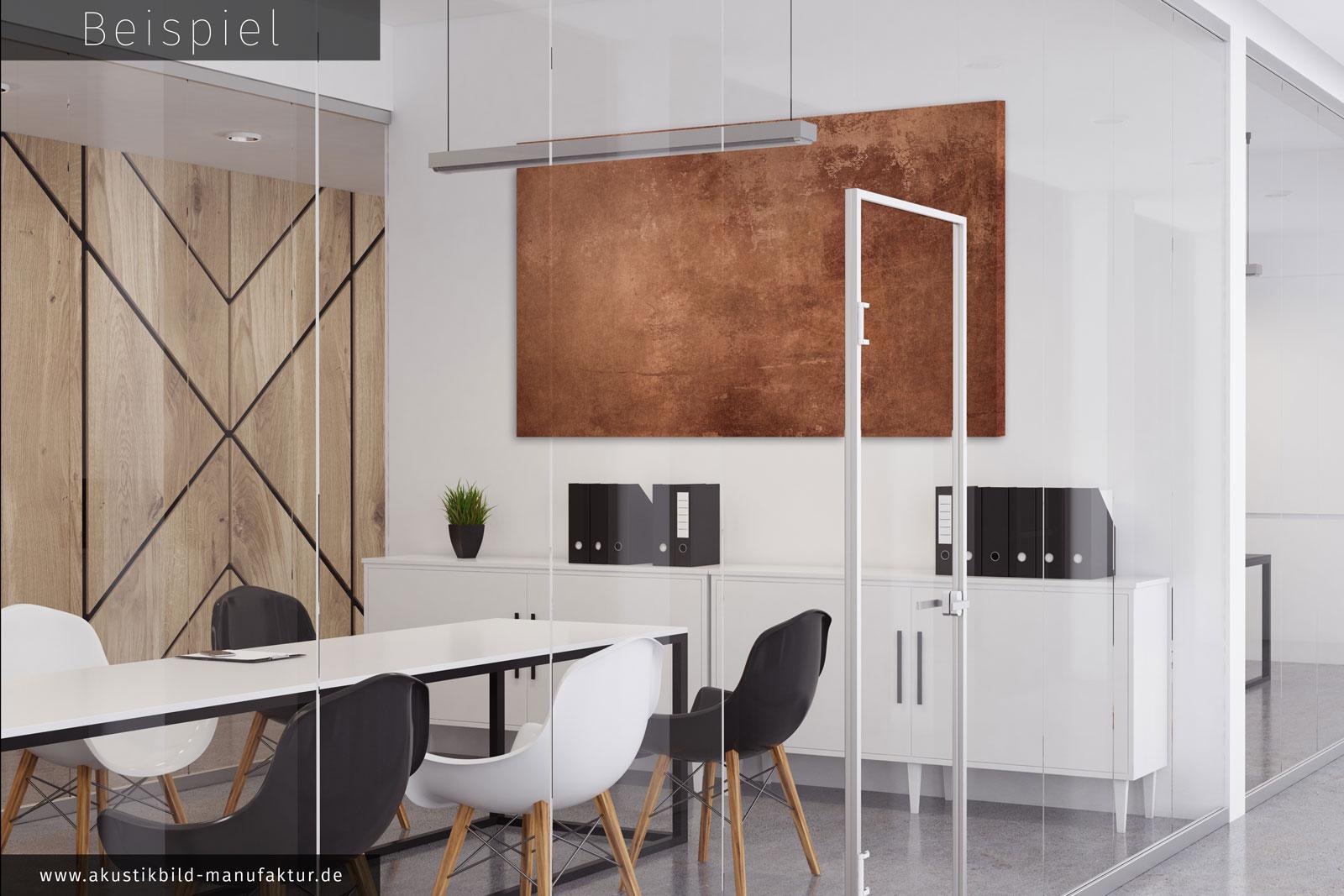 hochwertiges akustikbild kupfer metallic mit dezentem glanz intensiver farbe. Black Bedroom Furniture Sets. Home Design Ideas