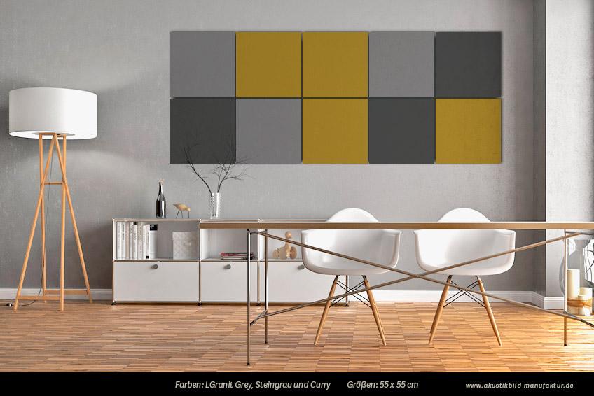 Farben und kombinationen f r einfarbige akustikbilder for Wand farbkombinationen