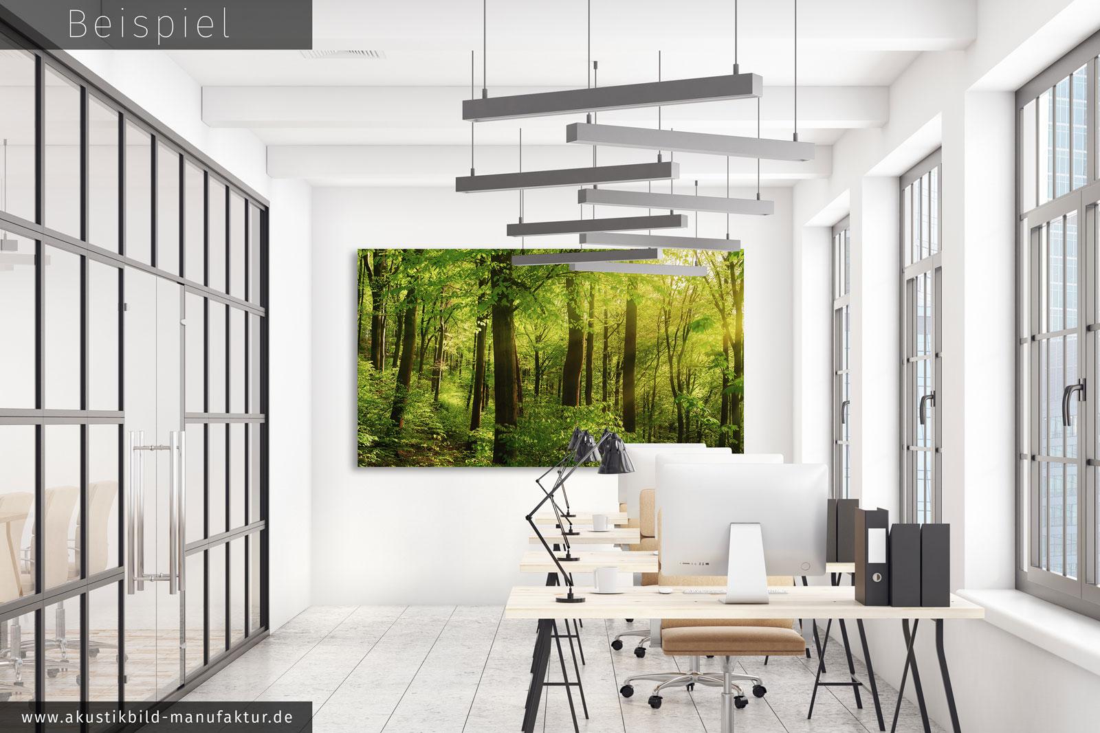 raumakustik verbessern buero wald natur gruen die akustikbild manufaktur. Black Bedroom Furniture Sets. Home Design Ideas