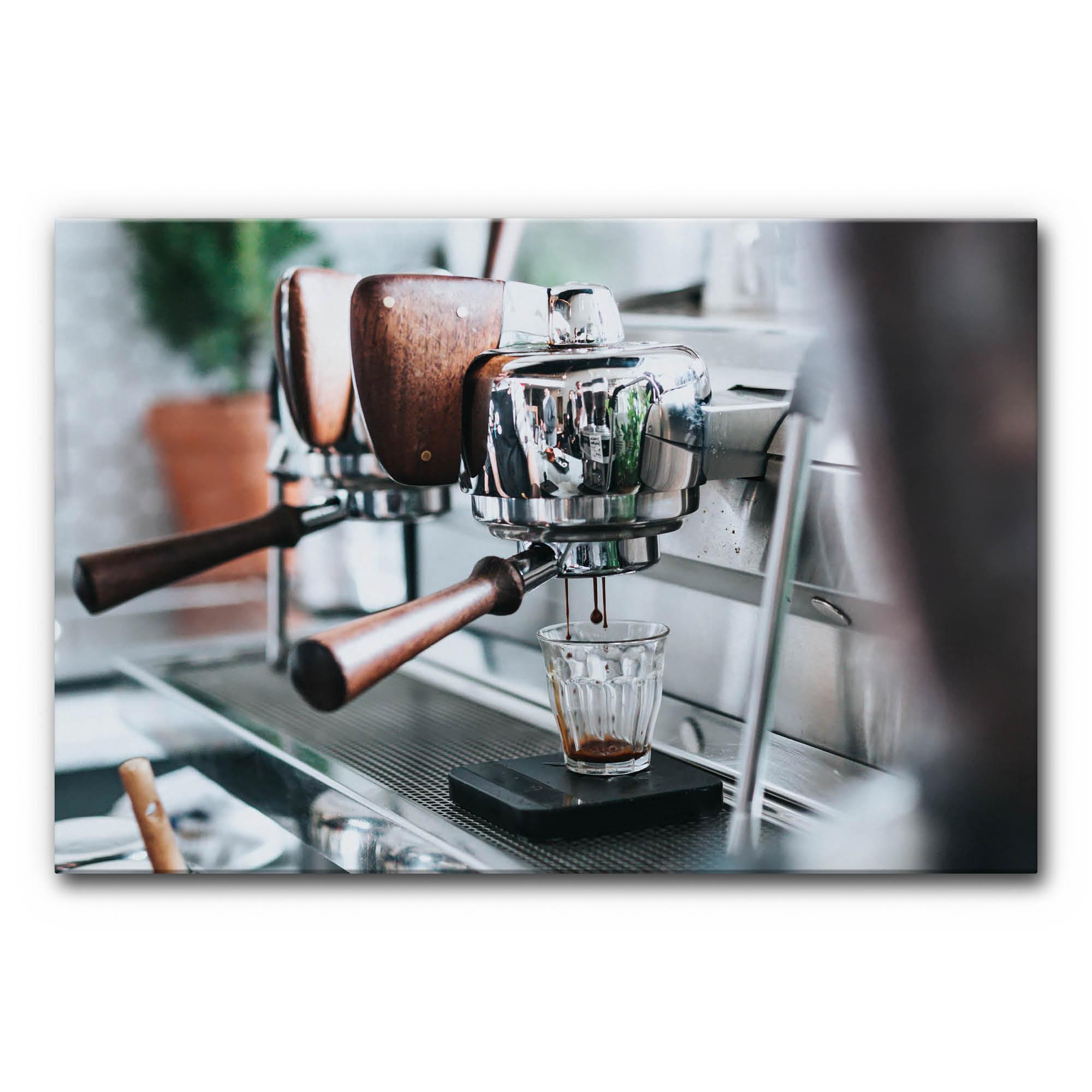 hochwertiges motiv akustikbild espressomaschine in vielen gr en erh ltlich. Black Bedroom Furniture Sets. Home Design Ideas