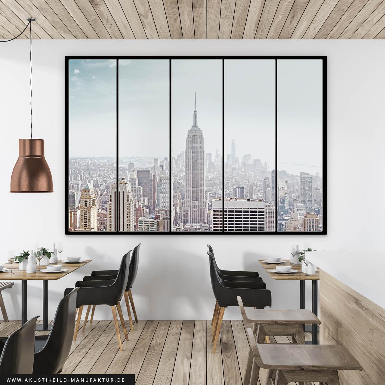 Schallabsorber Akustikbild New York Window