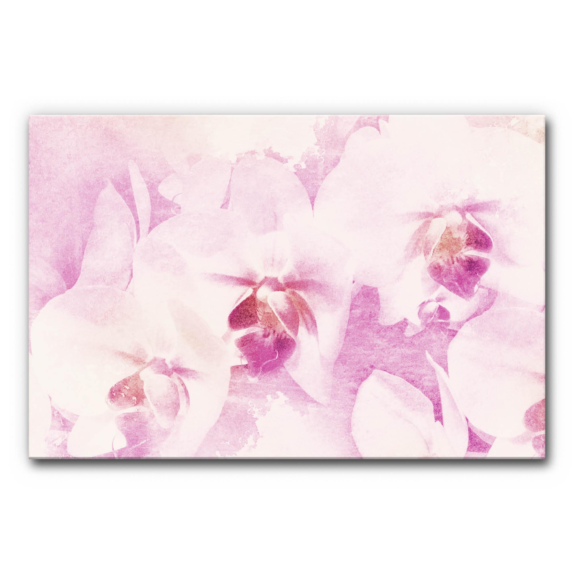 Schallabsorber Akustikbild Orchidee im Format 1200 x 800 mm