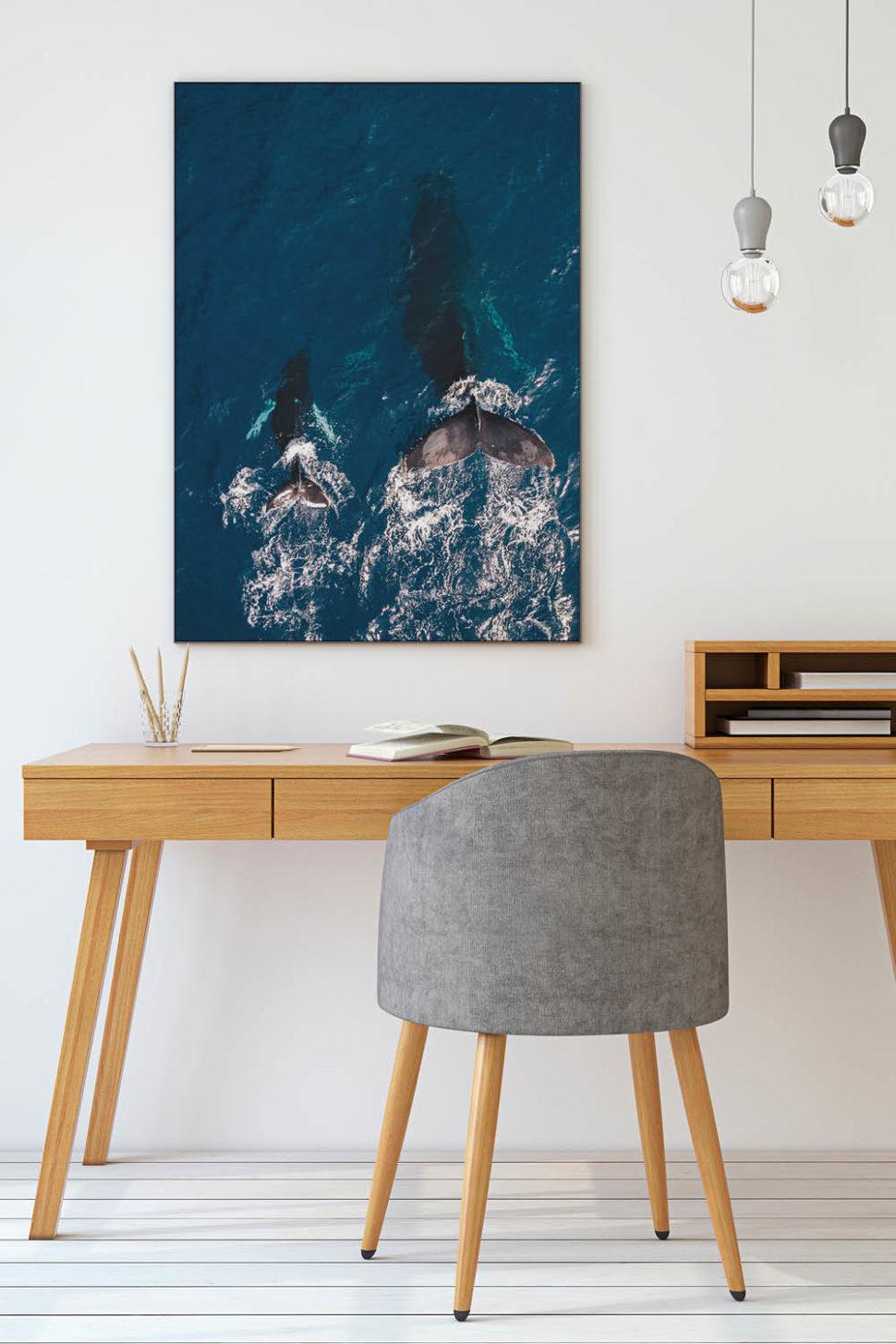 Home Office einrichten mit stimmungsvollen Wandbildern