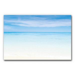 Schallabsorbierendes Akustikbild Strand im Format 120x80 cm