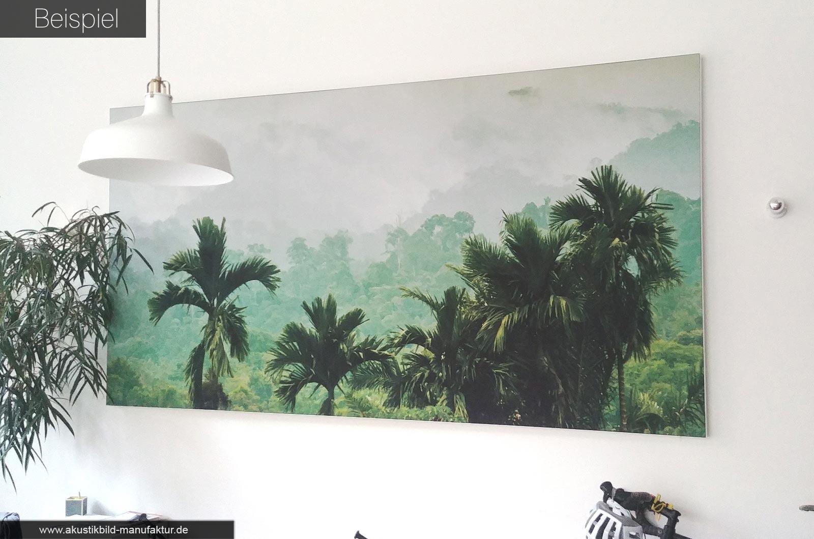 Akustikbilder mit Dschungel Natur Motiven