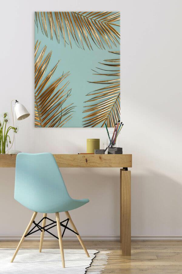Home Office einrichten mit Wandbildern
