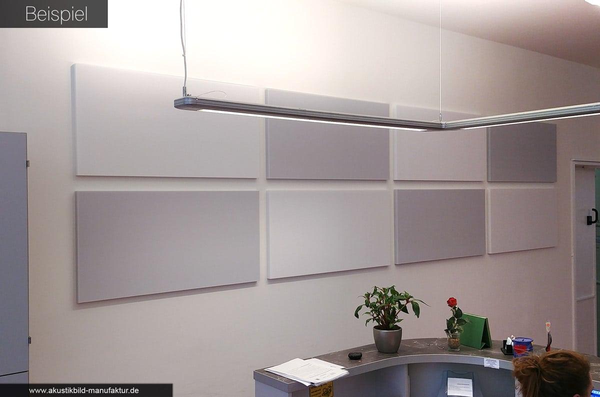 3cm dicke Absorberplatten (100x50 cm) in weiß und grau
