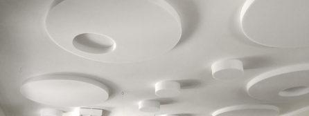 Schallschutz in Kita, Schule, Tagespflege oder Seminarraum: Runde Schallschutz Absorberplatten im Set für Kitas, Schulen oder Tagespflege