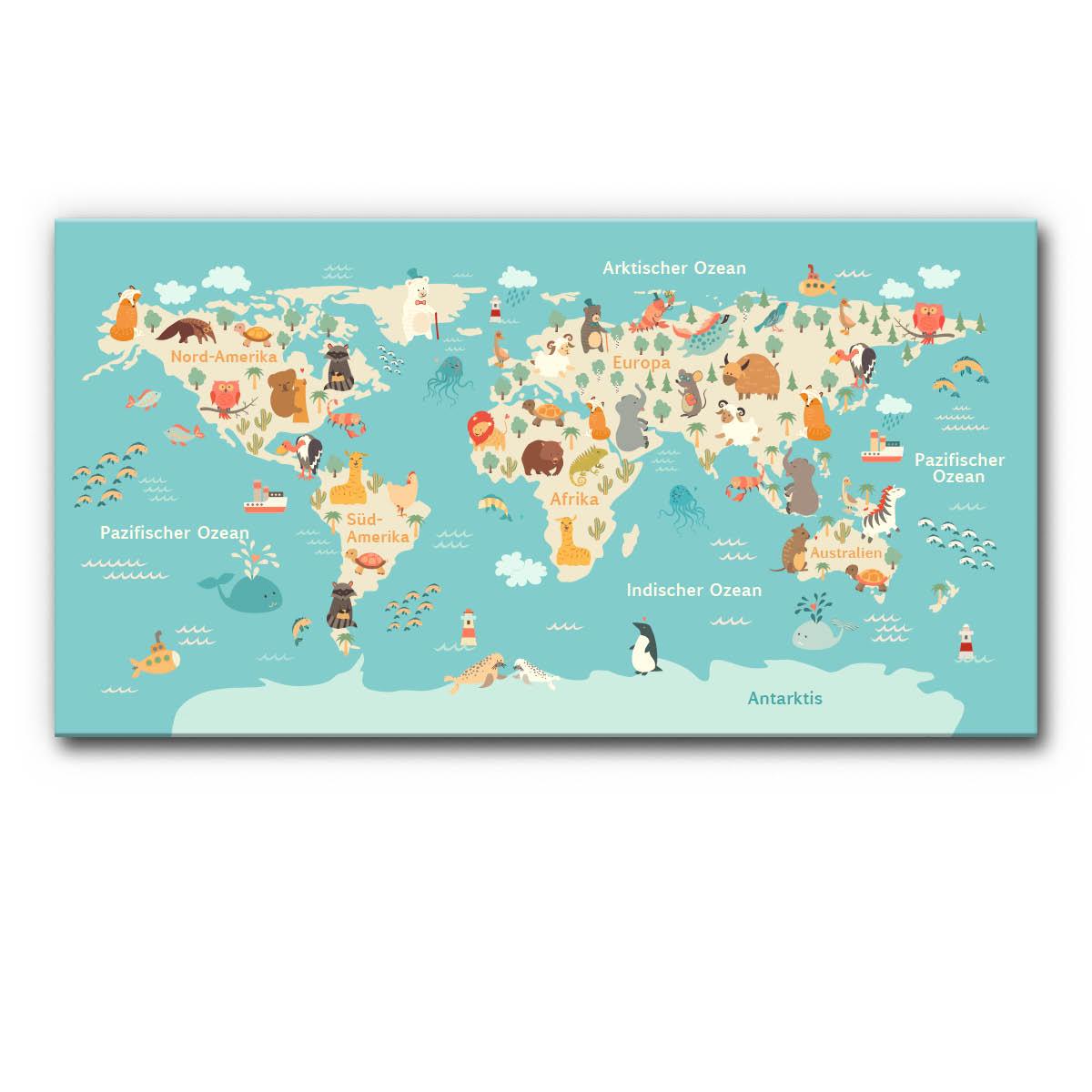 Schallschutz Akustikbild Karte Blaue Welt